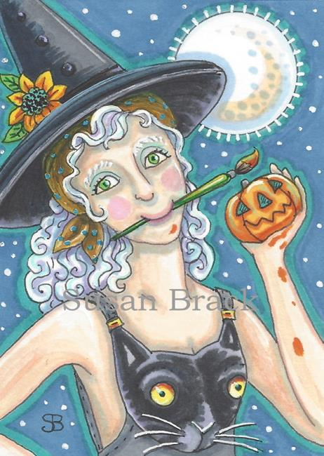 Art: A HALLOWEEN MASTERPIECE by Artist Susan Brack