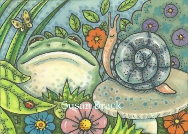 Art: CREATURES IN THE GARDEN by Artist Susan Brack
