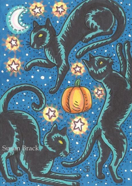 Art: BLACK CAT CONSTELLATION by Artist Susan Brack