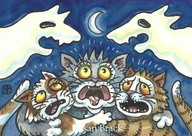 Art: SCAREDY CATS by Artist Susan Brack