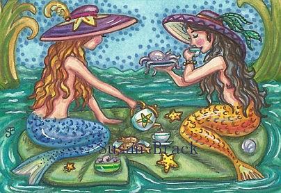 Art: MERMAID TEA PARTY by Artist Susan Brack