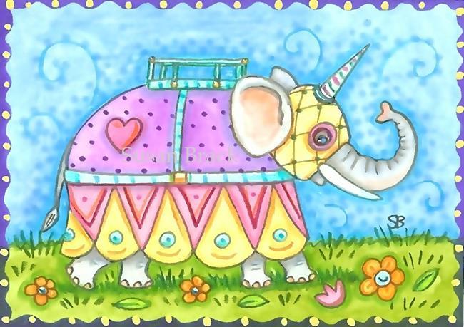 Art: ELEPHANT FANCY by Artist Susan Brack