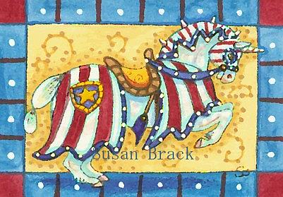 Art: OLD GLORY by Artist Susan Brack