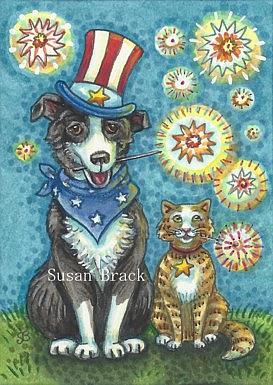 Art: PET PALS USA by Artist Susan Brack