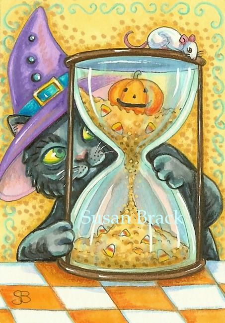 Art: COUNTDOWN TO HALLOWS EVE by Artist Susan Brack