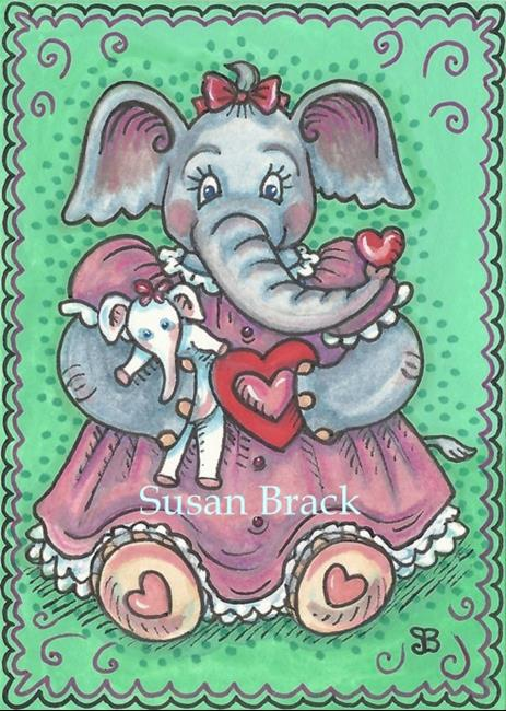 Art: ELLA'S VALENTINE by Artist Susan Brack