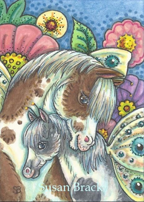 Art: HORSEFLIES IN THE GARDEN by Artist Susan Brack
