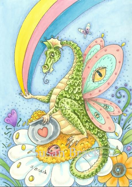 Art: DRAGON'S GOLD AT END OF THE RAINBOW by Artist Susan Brack