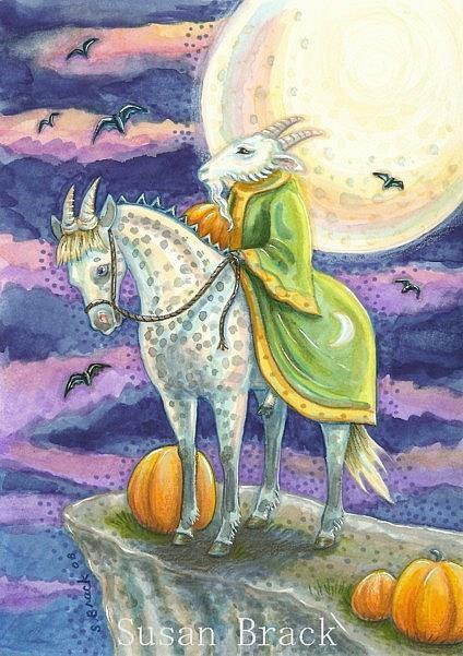 Art: DEMON ON HORSEBACK by Artist Susan Brack
