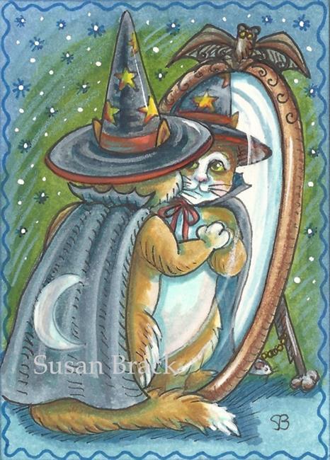 Art: CAT IN THE MAGIC MIRROR by Artist Susan Brack