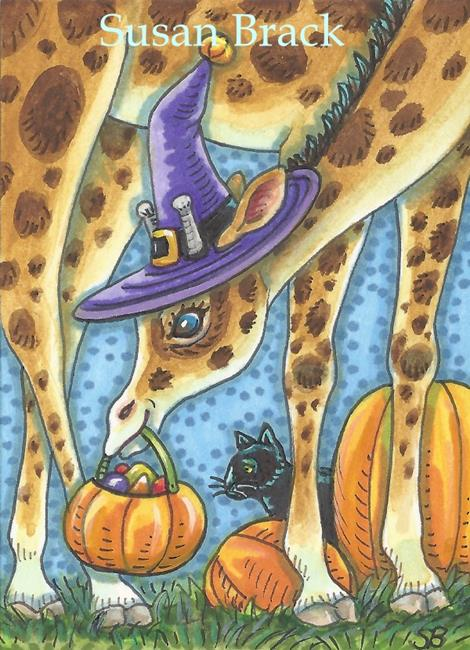 Art: HALLOWEEN TREATS ARE MADE TO SHARE by Artist Susan Brack