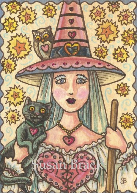 Art: HEARTS BEWITCHED by Artist Susan Brack