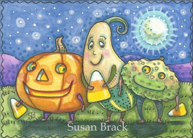 Art: THE HALLOWEEN GANG by Artist Susan Brack