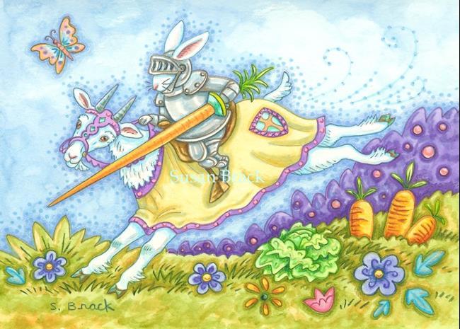 Art: CABBAGE SLAYER by Artist Susan Brack