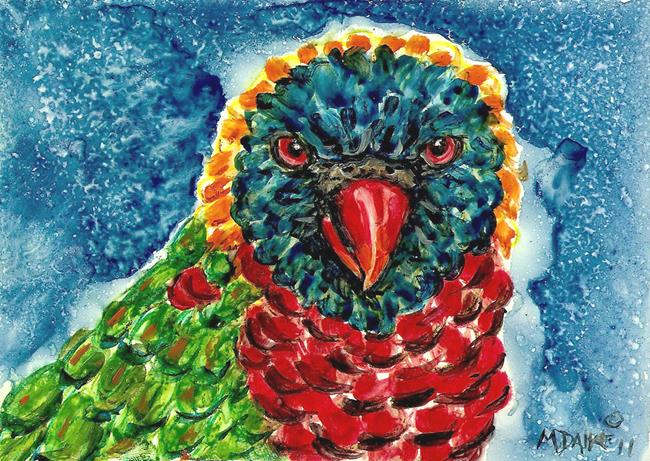 Art: Colors Lorikeet by Artist Melinda Dalke