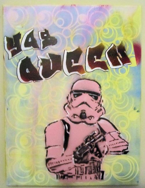 Art: Graffiti Pop Art Gay Stormtrooper Yas Queen by Artist Paul Lake, Lucky Studios