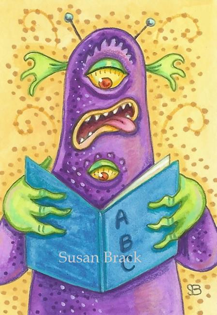 Art: ABCs OF BEING A GOOD MONSTER by Artist Susan Brack