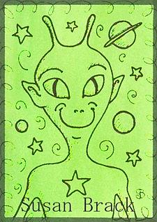 Art: SMILES ARE FREE ALIEN by Artist Susan Brack