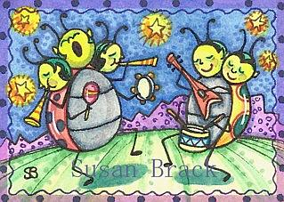 Art: TRAVELING INTERGALACTIC LADYBUG BAND by Artist Susan Brack