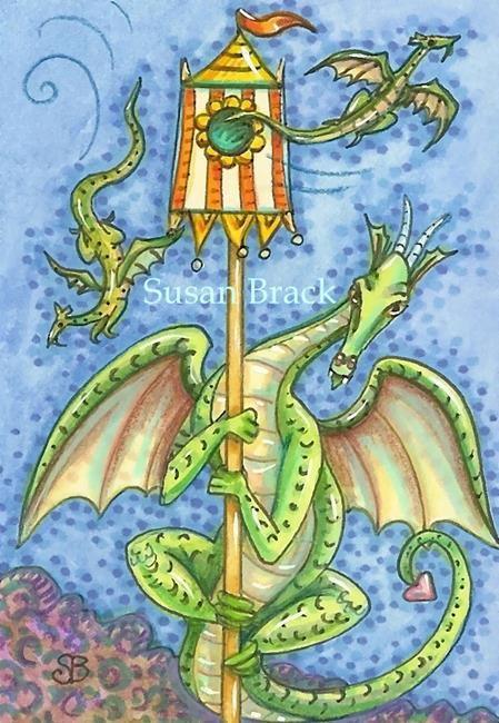 Art: BUILD IT, THEY WILL COME Dragon House by Artist Susan Brack