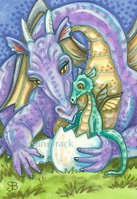 Art: CHIP OFF THE OLD DRAGON BLOCK by Artist Susan Brack