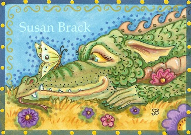 Art: CLOSE ENCOUNTER Dragon by Artist Susan Brack