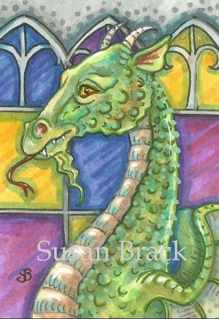 Art: DRAGON CATHEDRAL by Artist Susan Brack