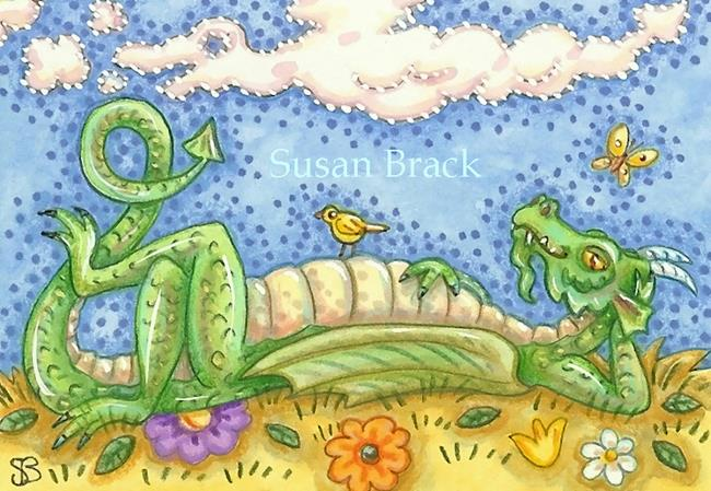 Art: DRAGON IN THE SKY by Artist Susan Brack