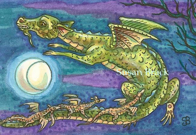 Art: NEXT GENERATION Flying Dragons by Artist Susan Brack