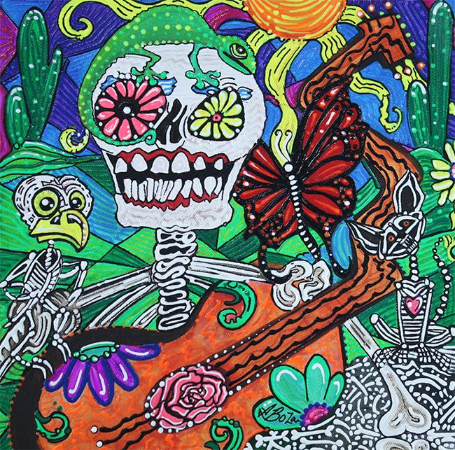 Art: The Happy Dead by Artist Laura Barbosa