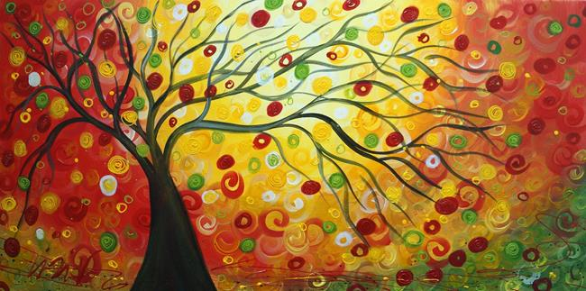 Art: AUTUMN TREE by Artist LUIZA VIZOLI