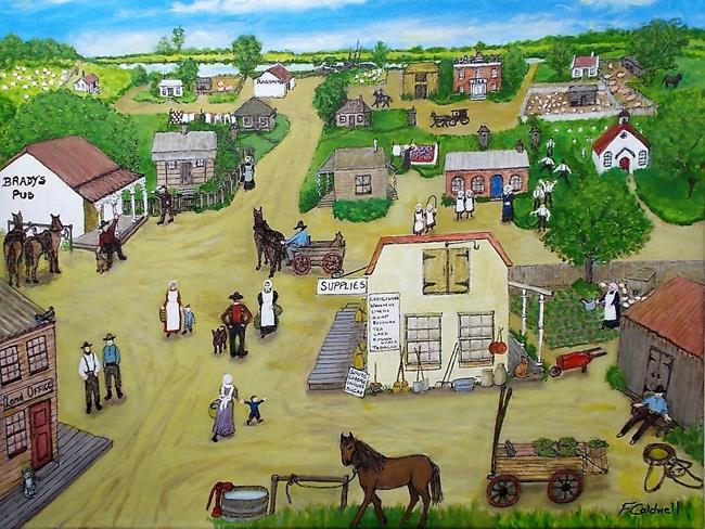 Art: Olden Days by Artist Fran Caldwell