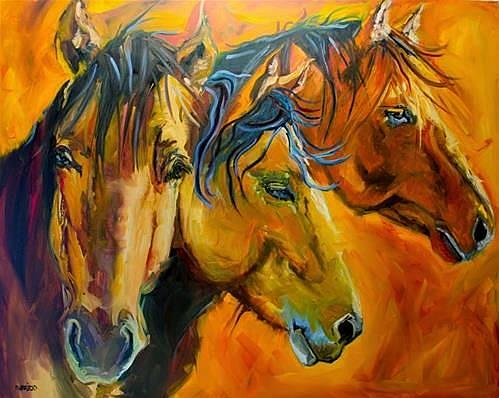Art: Brothers Original Oil Painting by Artist Diane M Whitehead