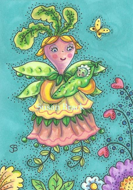 Art: SWEET PEA'S FAIRY GODMOTHER by Artist Susan Brack