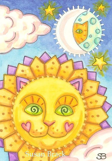 Art: CELESTIAL CATS by Artist Susan Brack