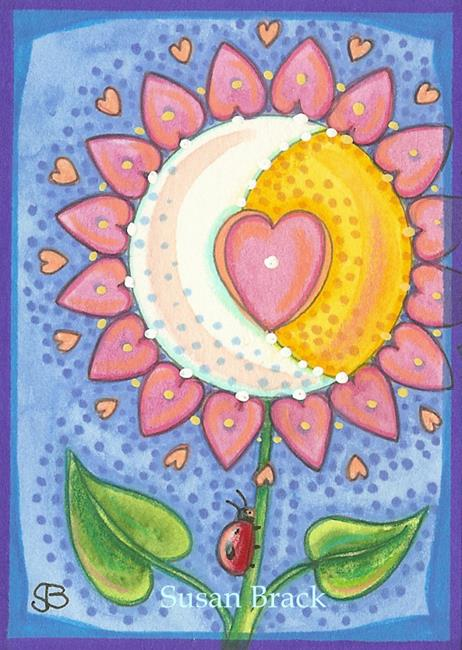 Art: CELESTIAL HEART FLOWER by Artist Susan Brack
