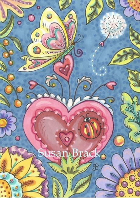 Art: OF HEARTS AND WHIMSY by Artist Susan Brack
