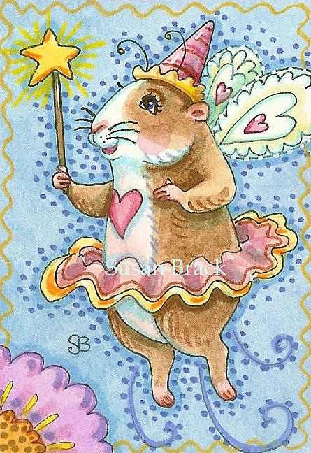 Art: FAIRY GODMOTHER  Guinea Pig by Artist Susan Brack