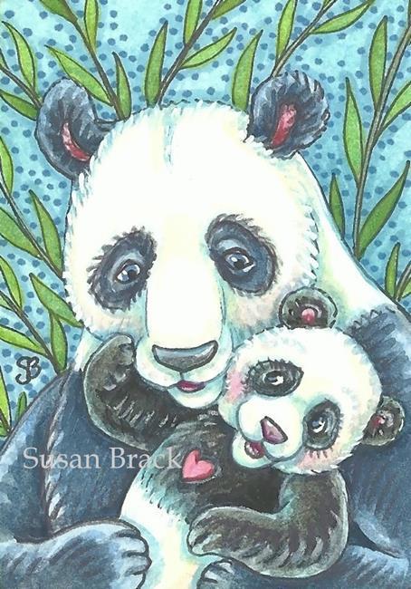 Art: BEAR HUGS AND KISSES by Artist Susan Brack