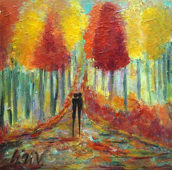 Art: FALL EVENING with YOU by Artist LUIZA VIZOLI