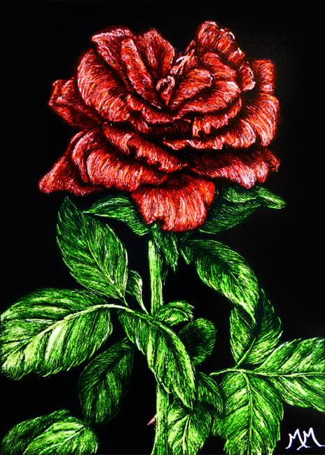 Art: Papa's Rose  (SOLD) by Artist Monique Morin Matson