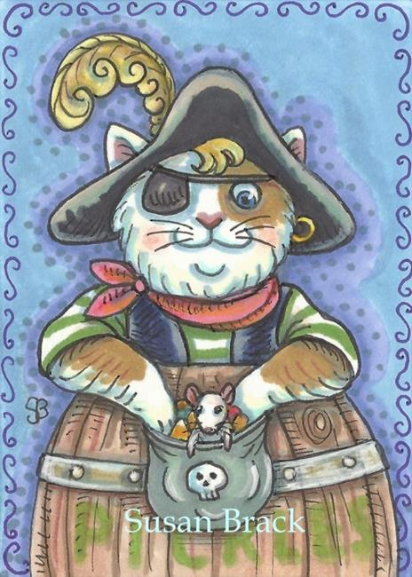 Art: PIRATE IN A PICKLE BARREL by Artist Susan Brack