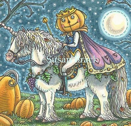 Art: THE PUMPKIN PRINCE Crop by Artist Susan Brack