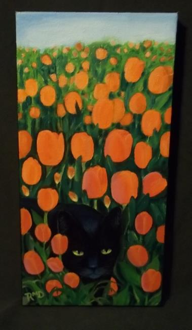 Art: STALKING IN TULIPS by Artist Rosemary Margaret Daunis
