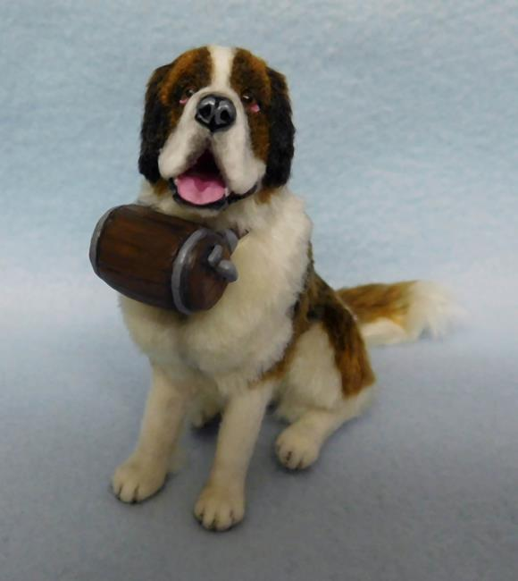 Art: Silk Furred Saint Bernard by Artist Camille Meeker Turner
