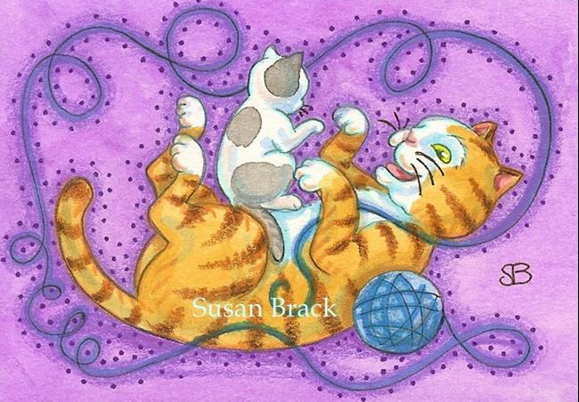 Art: KITTEN'S PLAY by Artist Susan Brack