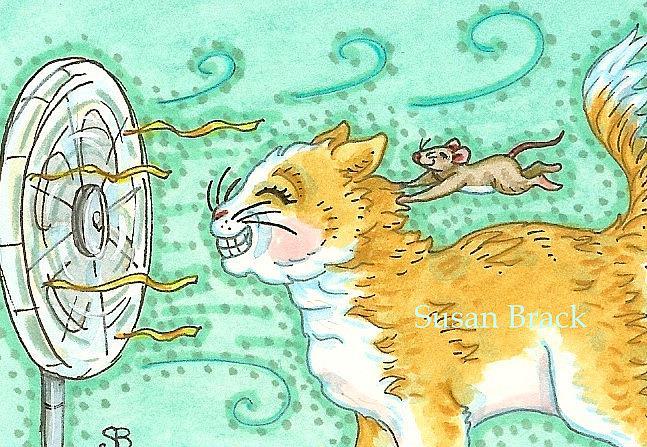 Art: ONE COOL CAT by Artist Susan Brack