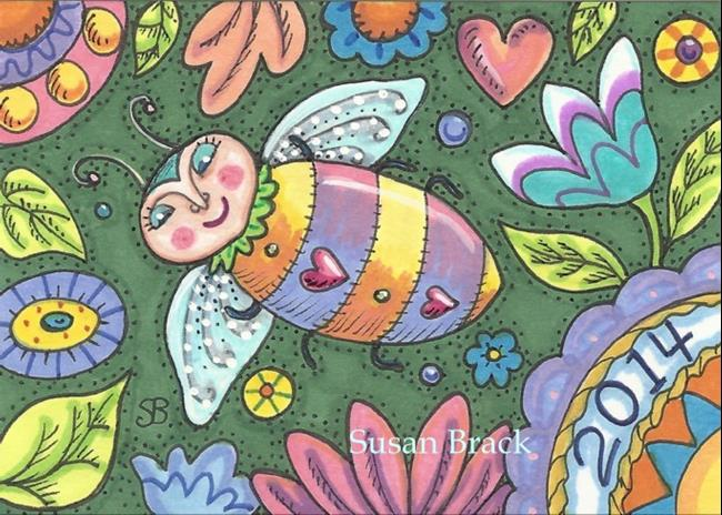 Art: MAY YOUR NEW YEAR BEE HAPPY by Artist Susan Brack