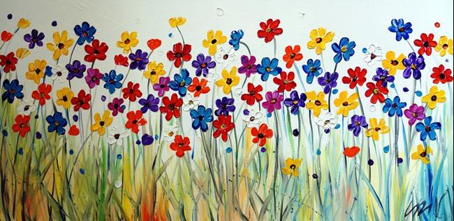 Art: Summer Daisies by Artist LUIZA VIZOLI