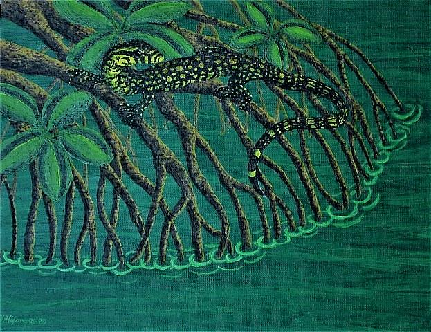 Art: Mangrove Rest by Artist Jackie K. Hixon
